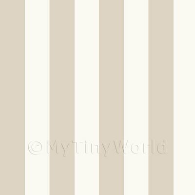 Dolls House Miniature Thick Light Brown Striped Wallpaper