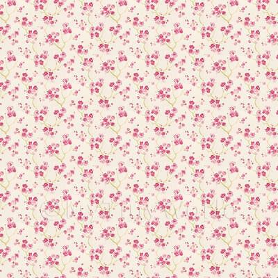 Dolls House Miniature Pink Blossom Wallpaper