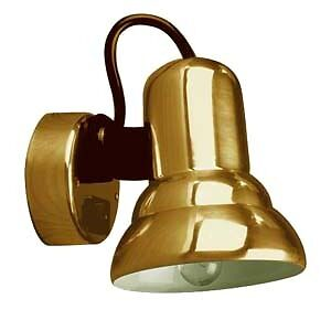 Boat Marine RV  Polished Brass Swivel Berth Light Cabin Light  12V 10W