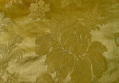 Antique French Gold Floral Damask Fabric
