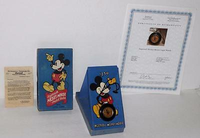 "Ex!disney1938""mickey Mouse Pocket Watch""-Ingersoll-Detail Service+Coa+3 Piece Bx"