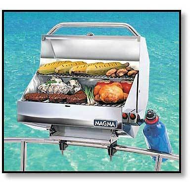 Boat Marine BBQ Stainless Steel Catalina Series 2 Gas Grill Magma
