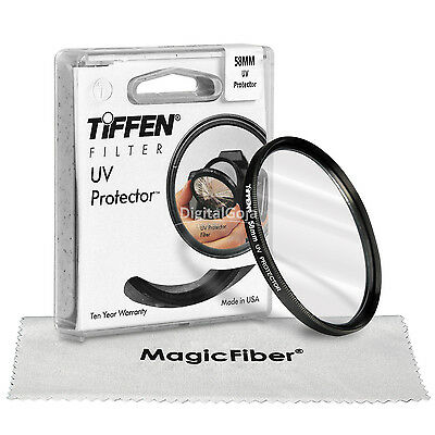 Tiffen 58MM UV Filter Lens Protector Glass for Canon Nikon Sony Pentax 18-55mm