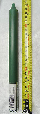 "2 x DARK GREEN CANDLES TAPER RITUAL 10"" / 25.5cms Wicca Pagan Witch SPELL CANDLE"