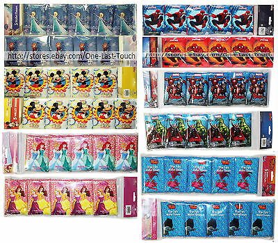 DISNEY 5 Pack WALLET TISSUES 3-Ply WHITE Resealable Packs *YOU CHOOSE* For Kids!