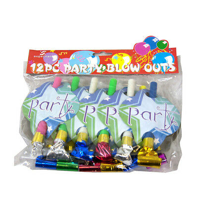 Bulk Lot 12 x Party Birthday Wedding Funny Blow Outs Noisemakers Favours Kids Ch