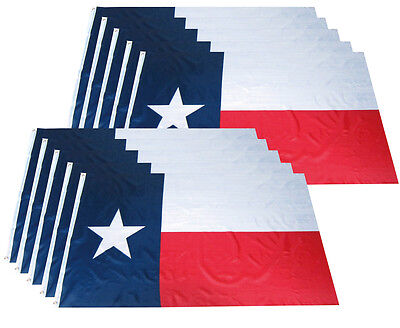 Wholesale Combo Pack of 2 State of Texas Poly 3x5 ft Premium Flag House Banner