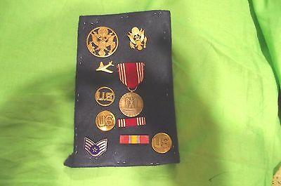 Lot of Military Insignia, Medals and Ribbons