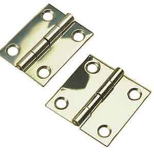 """Boat 2"""" x 2"""" Stamped 304 Stainless Steel Hinges 1 Pair - 2 Hinges Butt Hinges"""