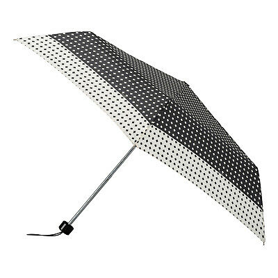 Totes Mini Umbrella - Black/Cream Diamond