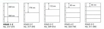 Lighthouse FOLIO sheets in 5 different sizes, in packs of 5 sheets.