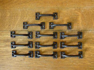 "12 Brown 3.5"" Mini Drawer Door Cabinet Pulls Handle Rustic Antique-Style Iron"