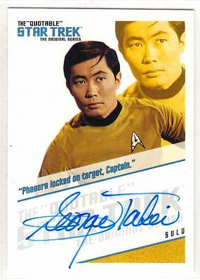 STAR TREK TOS QUOTABLE--Autograph #QA3: GEORGE TAKEI / Lt. Sulu *LIMITED*^^