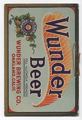 1915 Pre Pro Advertising Sign for Wunder Beer Oakland CA Louis Roesch SF