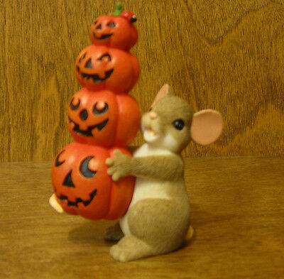 Charming Tails #4041157 STACKED PUMPKINS, Enesco by Dean Griff HALLOWEEN, MIB