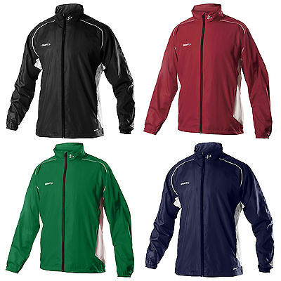 Craft Uomo Antivento Zip Jacket Completo Golf Corsa Ciclistica Copertura