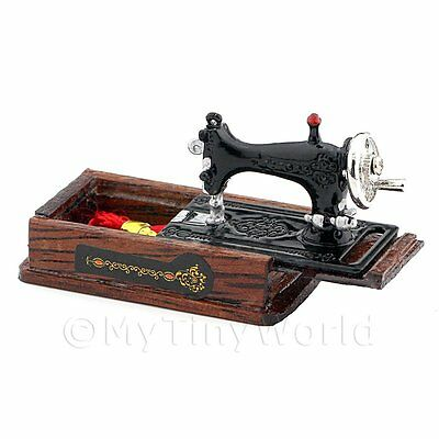Dolls House Miniature Sewing Machine With Accessories