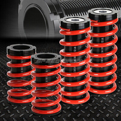 """1-3"""" Adjustable Coilover Suspension Lowering Spring For 00-05 Mit Eclipse 3G Red"""