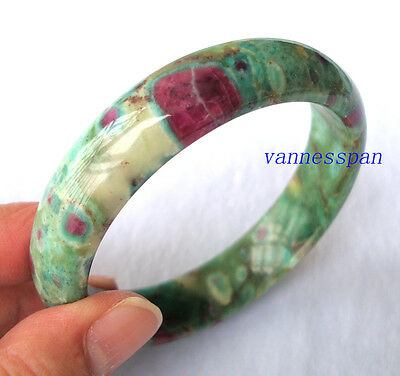 Natural Ruby in Zoisite Round Bracelet 15×8mm (#10097)