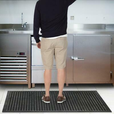 "Black Anti-Fatigue Floor Mat 36""*60"" Commercial Heavy Duty Restaurant Floor Mat"