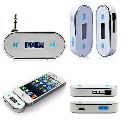 WHITE Wireless Car FM Radio Modulator Transmitter MP3 Player ITRIP For iPhone 6