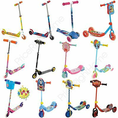 Boys Girls Disney & Character Scooters Shopkins, Minions + More Outdoor Free P+P