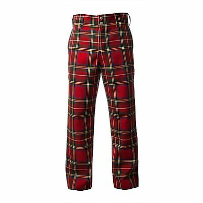 Men's Trousers Scottish Tartan Trews - Range of Sizes - Stewart Royal