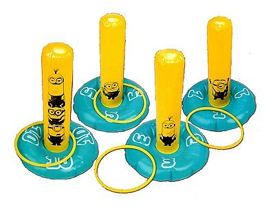 Inflatable Despicable Me Minion Ring Toss Hoopla Indoor Outdoor Game Toy 28-0166