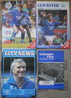 LEICESTER CITY v NEWCASTLE UNITED 4 x FOOTBALL PROGRAMMES = see list