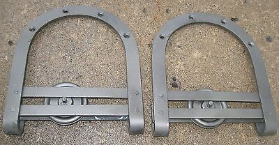 Antique Pair Iron Barn Door Rollers For Exterior/interior Clean Ready To Use