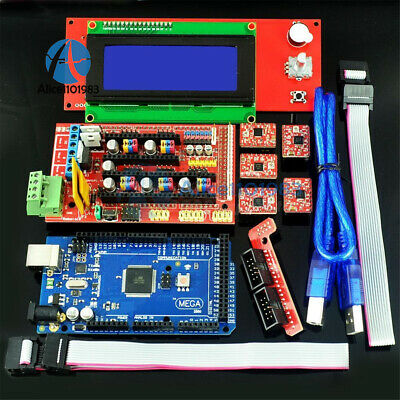 3D Printer Kit RAMPS 1.4 + Mega 2560 + 5pcs A4988 + LCD 2004 RepRap Prusa i3