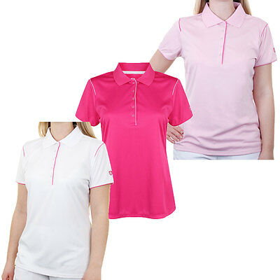 Island Green 2016 Ladies IGLTS1485 Contrast Performance Tech Golf Polo Shirt