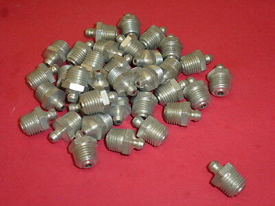 LOT of 35 ALEMITE 1627-B GREASE FITTINGS, STRAIGHT, 1/4 PTF