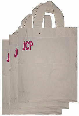 3 x Reusable Grocery Bag Shopping Canvas Tote Durable Fabric Heavy Duty Bags NEW