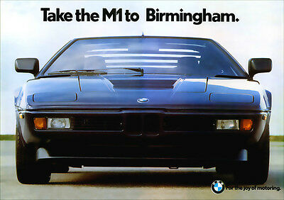 Bmw M1 Retro A3 Poster Print From Classic Advert 1978