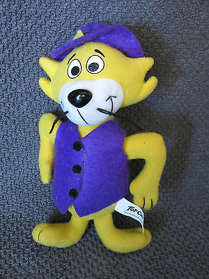 Hanna Barbera TOP CAT Yellow Plush Doll Rare Cartoon Collectible kitty vest hat