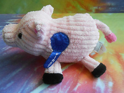 Old NAvy Pink Ribbed County Fair 1st Place Plush PIG Farm Animal Stuffed animal