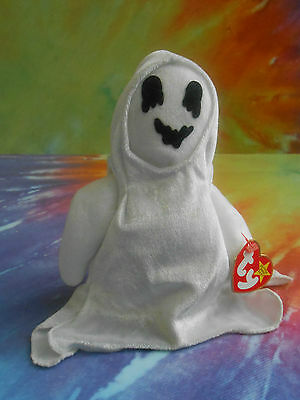Ty Beanie Baby Sheets the Ghost  Born Oct. 31,1999 Halloween Bean Bag Plush Toy