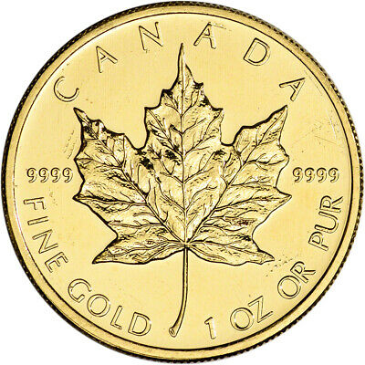 Canada Gold Maple Leaf - 1 oz - $50 - .9999 Fine - Random Year