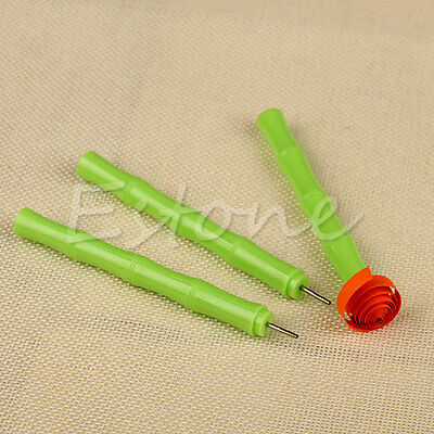 Hot Green Quilling Creations Origami Paper Slotted Tool DIY Handcraf Papercraft