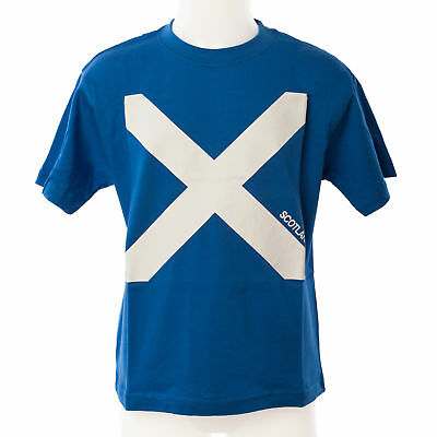 Heritage of Scotland Boys Scotland Saltire Flag T-Shirt