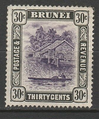 Brunei 1907 River View 30C Wmk Multi Crown Ca