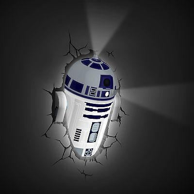 Star Wars R2-D2 3D Deco Led Light New With Crack Stickers Lamp