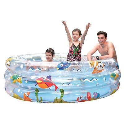 Jilong Ocean Fun Ring Pool 170 - großer Kinder Pool mit Meerestiere Aufdruck, fü