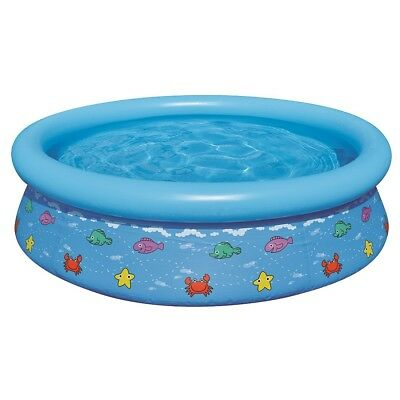 Jilong Kids Prompt Set Pool 150 - Quick-up Kinderpool mit Fisch Motiven, Ø150x38