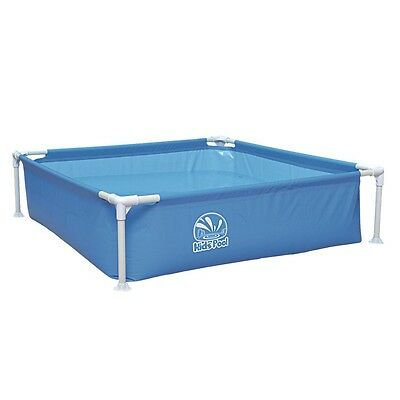 Jilong Kids Frame Pool 122 - viereckiger Stahlrahmen  Kinder Pool 122x122x33 cm,