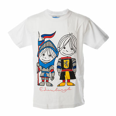 Safon Clothing Unisex Boys Girls Appli Knight Scotland T-Shirt