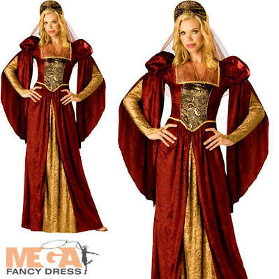 Renaissance Maiden Ladies Fancy Dress Medieval Princess Womens Adult Costume New