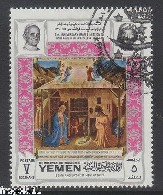 Kingdom North Yemen 1969 - Beato Angelico - B. 5 Argento - Usato