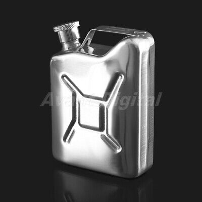 5oz Stainless Steel Jerry Can Hip Flask Liquor Whisky Pocket Bottle Portable